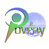 POV-Ray logo with sphere